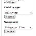 Die Schnellauswahl ermöglicht einfaches Auswählen der Produkte.