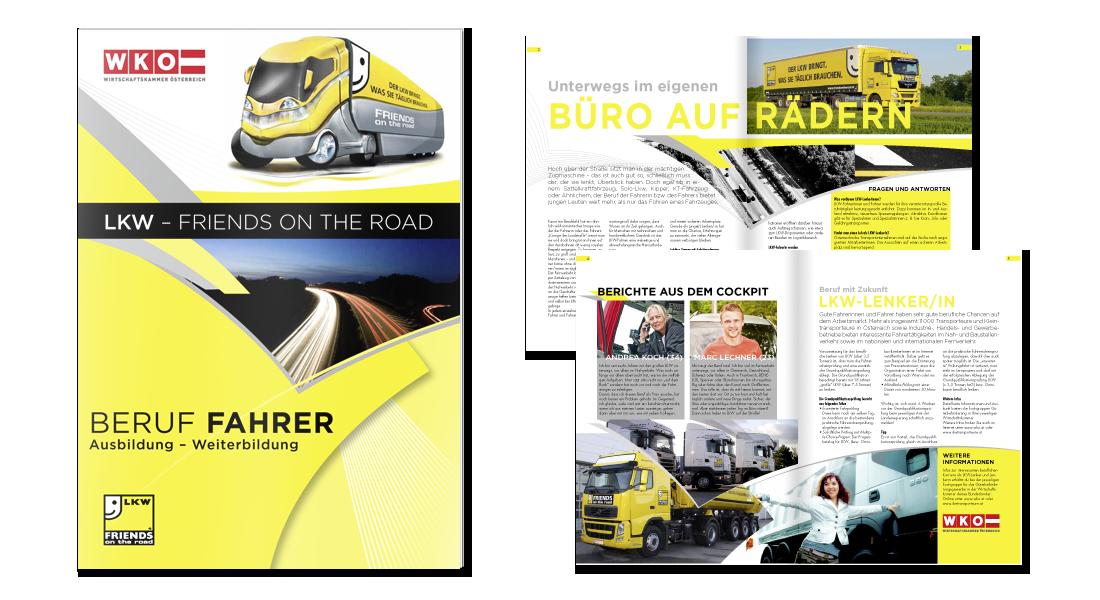"""Broschüre """"Beruf Fahrer"""" für die LogCom"""